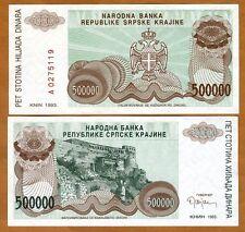 Croatia, Knin 500,000 Dinara, 1993, Pick R23, UNC