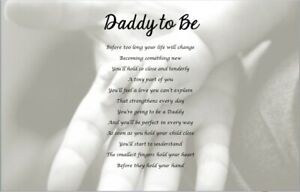 DADDY TO BE GIFT - personalised keepsake poem, new daddy, daddy to be