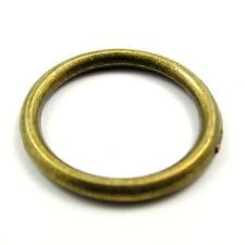 60X Antique Style Bronze Tone Round Circle Rings Jewelry Findings 20*20*2mm
