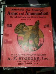1931 Stoeger Gun Catalog American & Import Arms Ammunition Luger Mauser Ithaca++