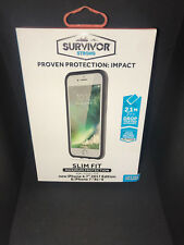 100% Genuine Griffin Survivor Strong Case Cover For iPhone 8 7 Black/ Deep Grey