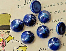 10mm Cobalt Vintage Glass Cabochons Luminous blue Midnight Round Lapis #1678