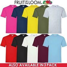 Fruit Of The Loom Mens Womens T Shirts 100% Cotton Plain Short Sleeve Tee Shirt