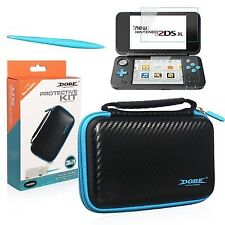 Black Protective Kit for Nintendo 2ds XL Case Screen Protector Stylus