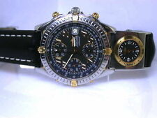 Breitling polierte Armbanduhren mit Armband aus echtem Leder