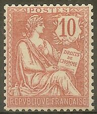 "FRANCE STAMP TIMBRE N°124 "" MOUCHON RETOUCHE 10c ROSE 1902 "" NEUF xx TTB"