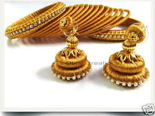 Silk thread Earring Bangle & Jhumka set ( Colour & Size can be customized)