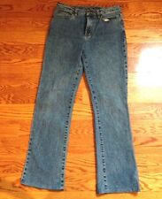 Diane Gilman DG2 Jeans Light Blue Boot Cut Faded Womens Jeans Stretch Sz 4 NWOT