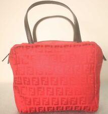 Fendi Damas Mini Manija Superior Bolsa Roja con el logotipo de Fendi patrón de material-Muy Chic