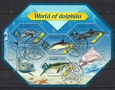 Animaux Dauphins Salomon (214) série complète de 4 timbres oblitérés