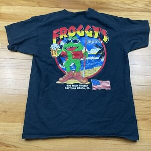 Froggy's Saloon Daytona Beach Pocket Front T-Shirt Size XL