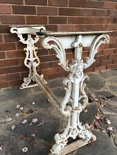 Antique wrought iron table base