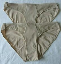 Lot de 2 culottes femme sous vêtement slips beige lingerie taille M neuf