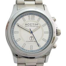 Acctim Radio Controlled Atomic Mens Watch PULSERA Sil Analog 60267
