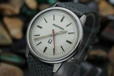 C. 1972 ACCUTRON By BULOVA 218 Tuning Fork Stainless Steel Men's Dress Watch