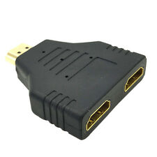 Pro 1080P HDMI 1 Male To Dual HDMI 2 Female Y Splitter Cable Adapter for HDTV 1x