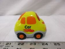 V-tech yellow car orange red black wheels fun toy rolls lights sounds vehicle
