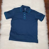 Adidas Men's Puremotion Golf Polo Shirt Blue Size M W/Logo Polyester/Spandex