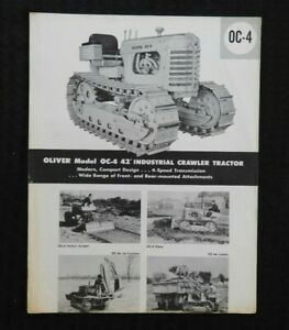 """1957 """"THE OLIVER MODEL OC-4 INDUSTRIAL CRAWLER TRACTOR"""" SPECIFICATIONS BROCHURE"""