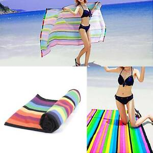 Striped Extra Large Microfibre Lightweight Beach Towel -Quick Dry- Travel Towel