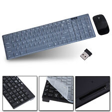 2.4G Optical Wireless Keyboard and Mouse USB Receiver Kit for PC Computer Black