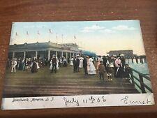 The Boardwalk People Arverne Queens Long Island New York 1906 postcard