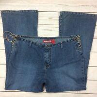 ZANA DI Lace Up Jeans Size 22 Womens Flare Leg 90's Boho Hippie