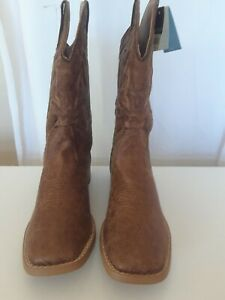 New Roper Boys Western Boots Size 7 Brown Big Kids