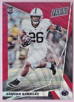 SAQUON BARKLEY RC 2018 PANINI THE NATIONAL VIP RED WAVE ROOKIE #14/25