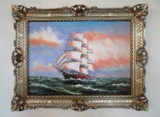 Gemälde Segelschiff Meer Schiffsbilder Seefahrt 90x70 Schiff auf Hoher See  Nr71