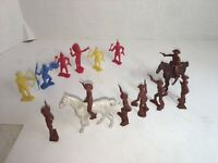 LOT OF ANTIQUE MPC COWBOYS AND INDIANS PLASTIC FIGURES