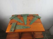 "Hinges Large T STRAP Antique Green Set of 4 Measure 12 1/2"" Total Great Decor"