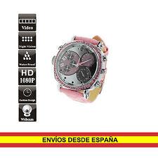 Reloj espia HD 8GB de pulsera Waterproof Mujer con LEDs IR infrarrojos Auto