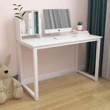 Wood Computer Table Study Desk Office PC Laptop Workstation Home Furniture White