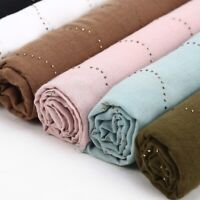 Women Muslim Tassel Long Scarf Hijab Plain Cotton Shawl Wrap Stole Pashmina Lot