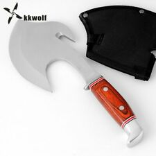 Tomahawk Axe Head Overall Steel Wooden Handle Hunting Survival Knife