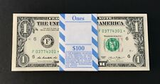 2013 ✯STAR NOTE✯ $1 One Dollar Bill Crisp Consecutive Bills UNC Atlanta