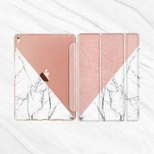 White Marble Rose Gold Smart Cover Case iPad Pro 12.9 10.5 9.7 Air Mini 2 3 4 5
