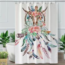 Buffalo Skull Shower Curtain Dreamcatcher Waterproof Bathroom Curtain Home Decor