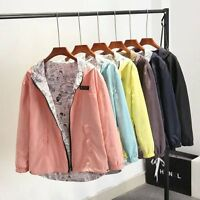 Women's Casual Hoodie Coat Jacket Hooded Zipper Sweatshirt Cardigan Outwear LOT