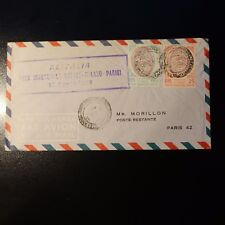 ITALIE AVIATION LETTRE COVER PREMIER VOL NAPOLI MILANO PARIS 1957