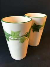 Franciscan - Ivy - American - PAIR 12 oz. Tumblers with Green Stripe