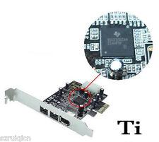 PCI-Express to IEEE 1394A/B Combine PCI-E 2B+1A Firewire 800Mbps Card