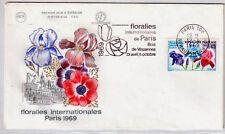 FRANCE FDC - 683 1597 4 FLORALIES DE PARIS - flamme 12 Avril 1969