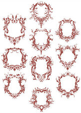 ABC Designs Fancy Frames  Machine Embroidery Designs SET 5x7 hoop