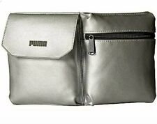 PUMA JULES WAIST PACK FANNY BAG Silver DOUBLE COMPARTMENT NWT