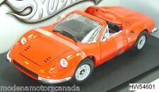 FERRARI 246 GTS DINO TARGA RED by HOT WHEELS 1:18 SHIPPING INCLUDED NEW IN BOX