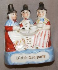 ANTIQUE FAIRING GERMAN FIGURINE PORCELAIN WELSH TEA PARTY REDS