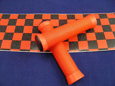 ODI  STYLE  RED SCOOTER GRIPS + RED / BLACK CHECKERED  GRIP TAPE