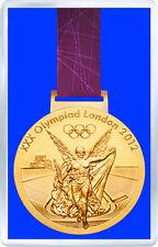 LONDON 2012 OLYMPIC GOLD MEDAL FRIDGE MAGNET IMAN NEVERA